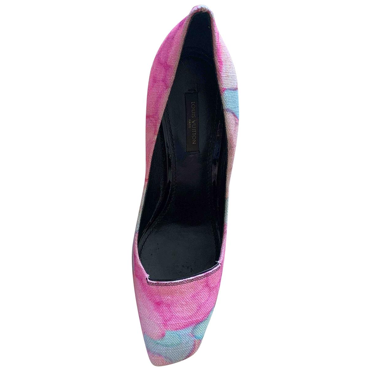 Louis Vuitton - Escarpins   pour femme en toile - rose