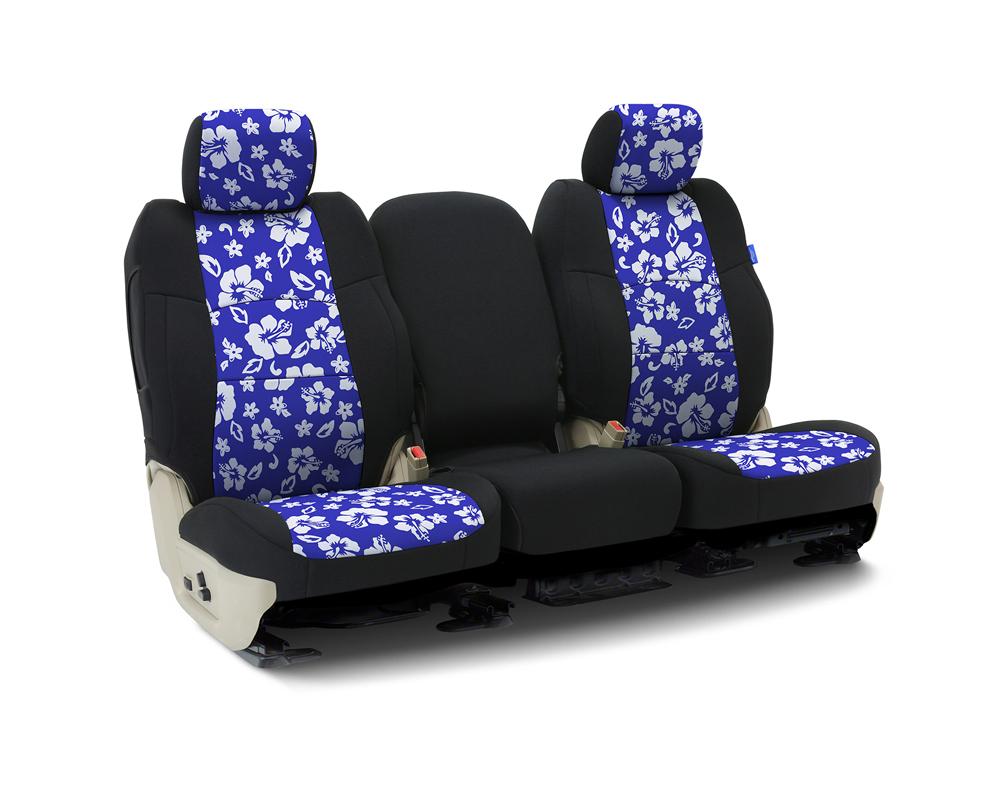 Coverking CSCF8SR7007 Custom Seat Covers 1 Row Neoprene Hawaiian Blue   Blue Sides Rear Saturn Vue 2002-2005