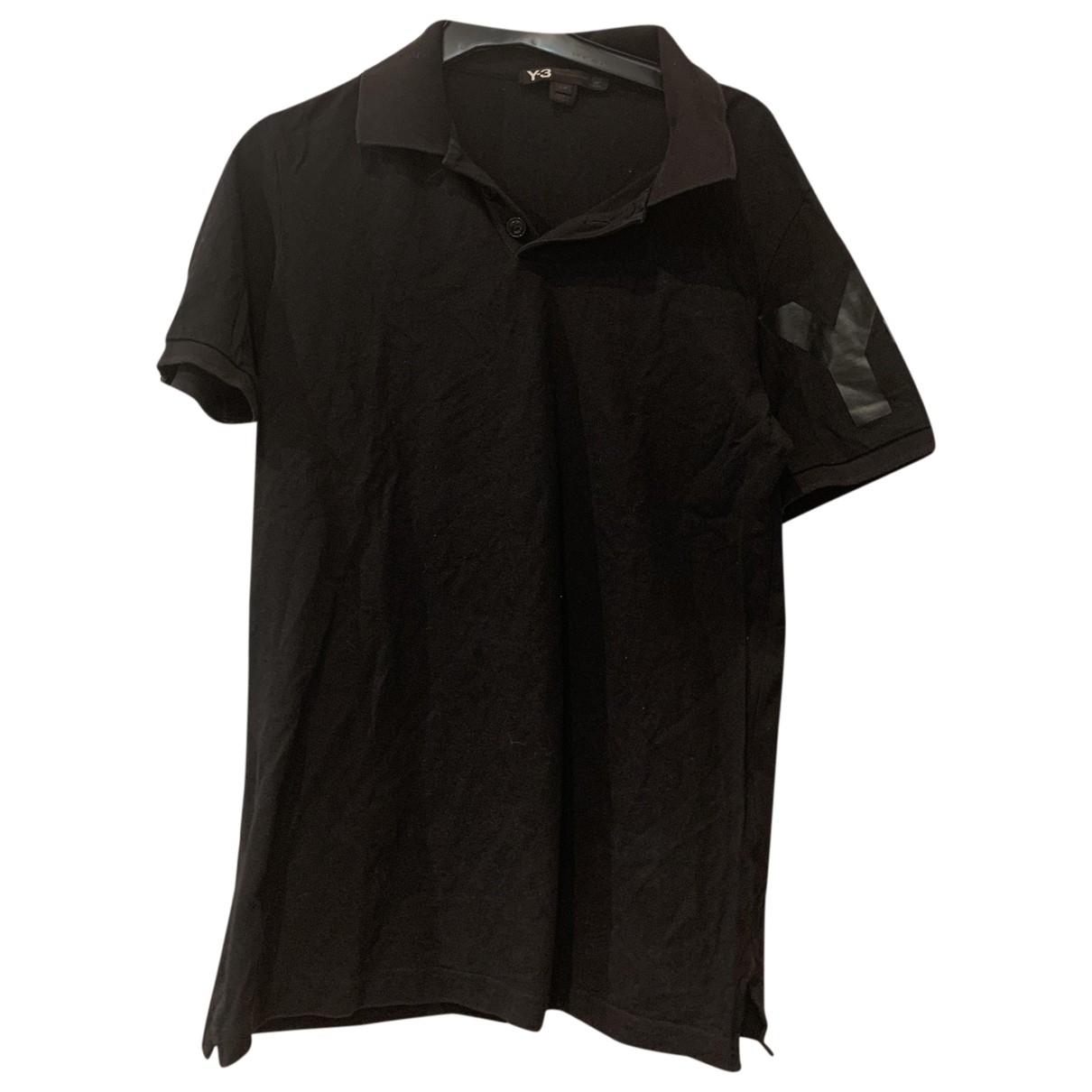 Y-3 \N Black Cotton Polo shirts for Men S International