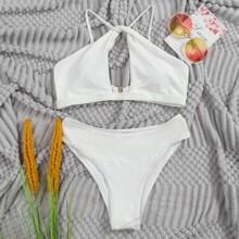 Bañador bikini con abertura girante