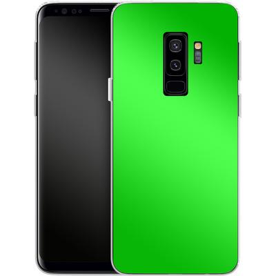 Samsung Galaxy S9 Plus Silikon Handyhuelle - Test Green von caseable Designs