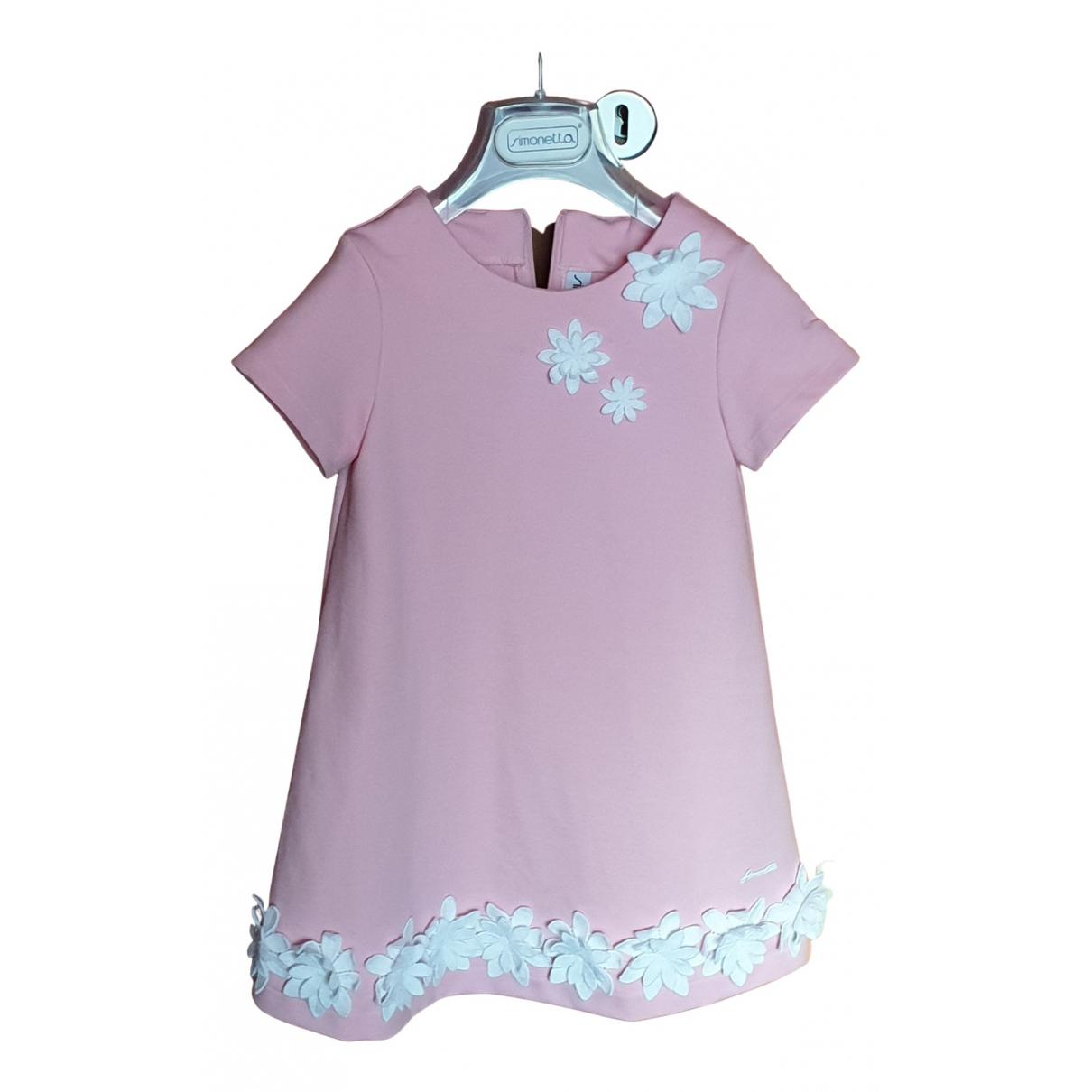 Simonetta \N Kleid in  Rosa Polyester