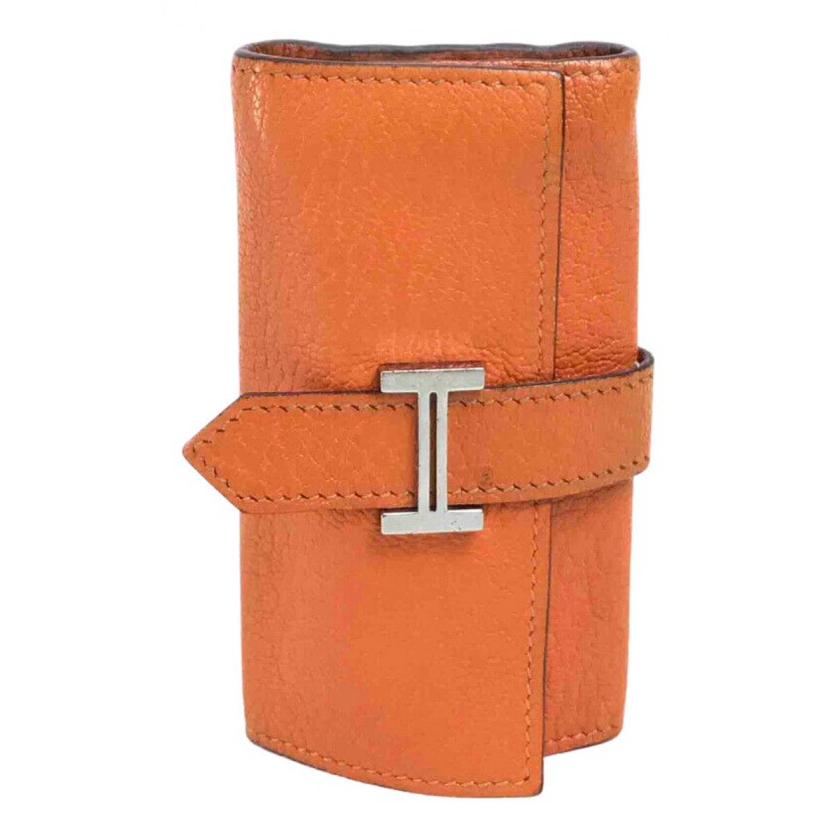 Hermes - Petite maroquinerie   pour femme en cuir - orange