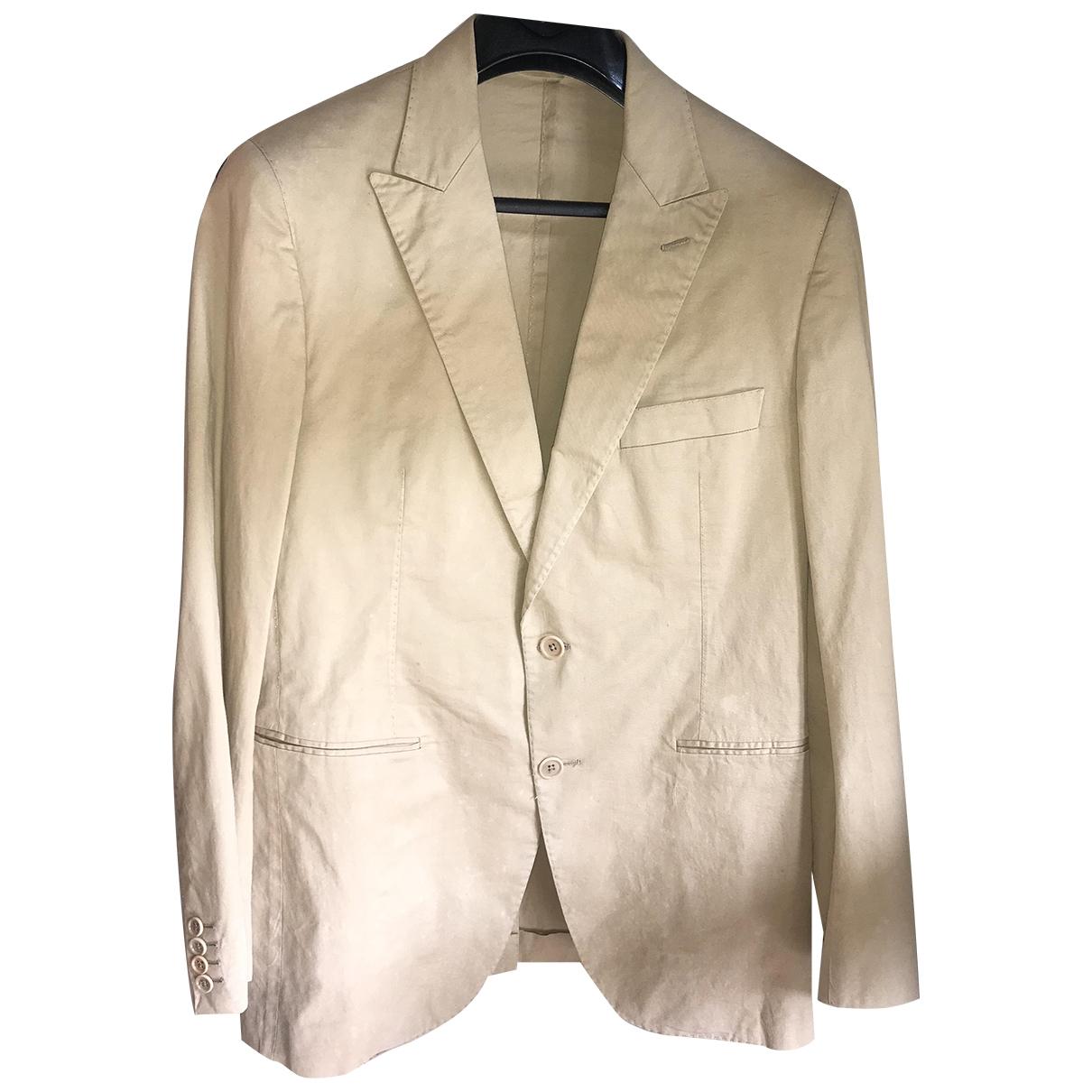 Burberry \N Beige Cotton jacket  for Men 52 IT