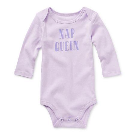 Okie Dokie Baby Girls Bodysuit, 9 Months , Purple