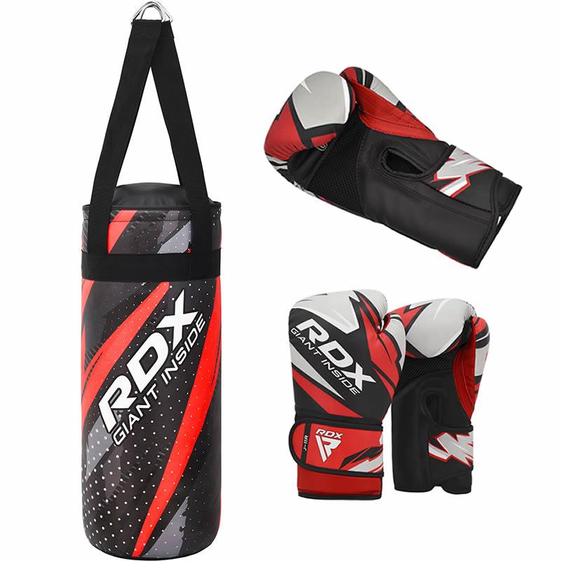 RDX J11 2ft Kinder Boxsack und Handschuhe Set Rot