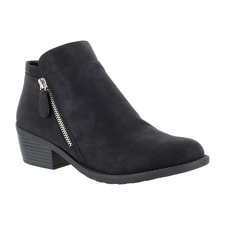 Easy Street Womens Gusto Booties Block Heel, 7 1/2 Narrow, Black