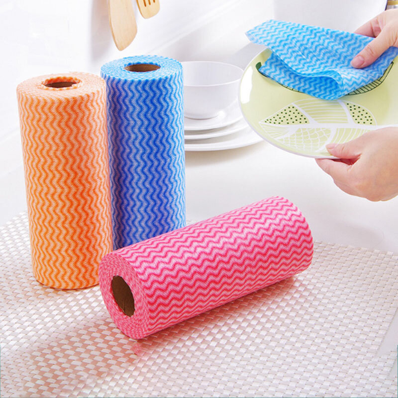 50 Pcs / Roll Disposable Cloth Kitchen Housework Cleaning Cloth