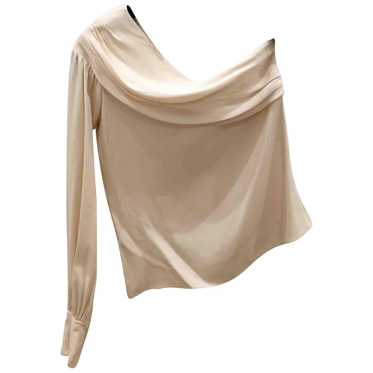 Chanel - Top   pour femme en soie - ecru