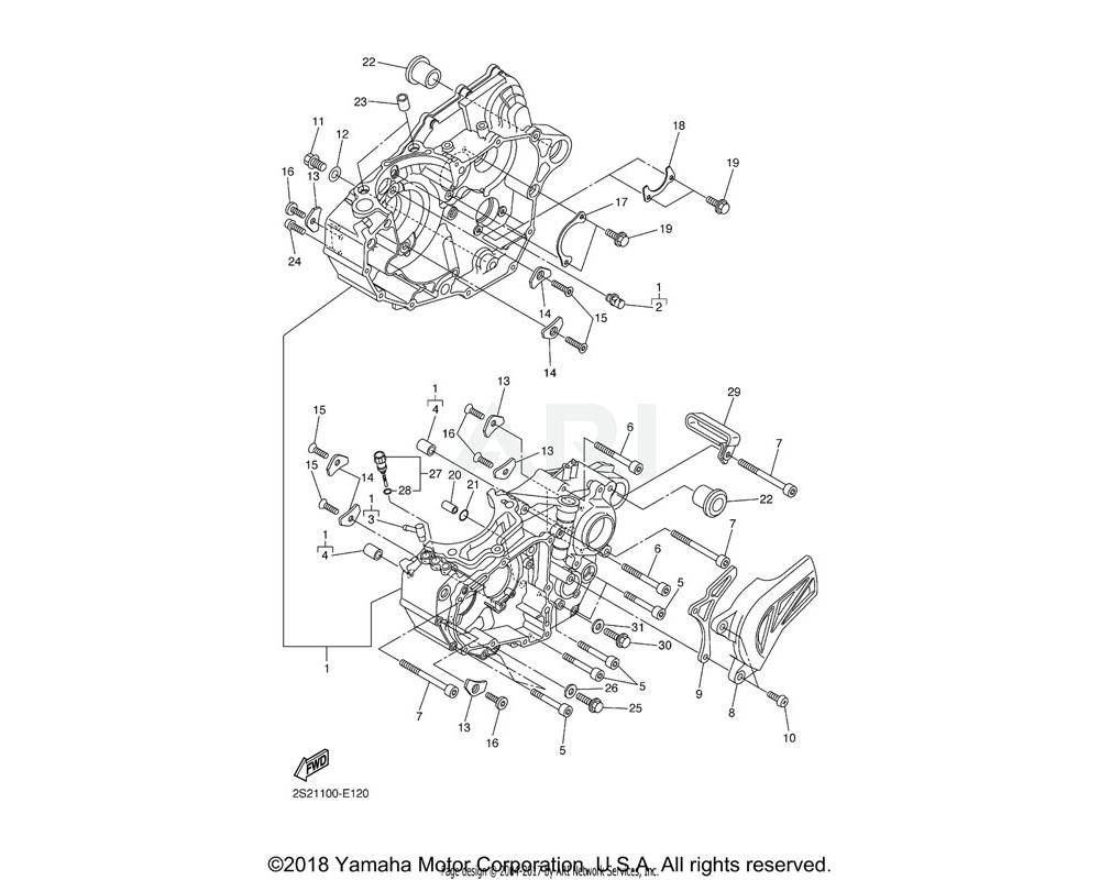 Yamaha OEM 90151-06044-00 SCREW, COUNTERSUNK