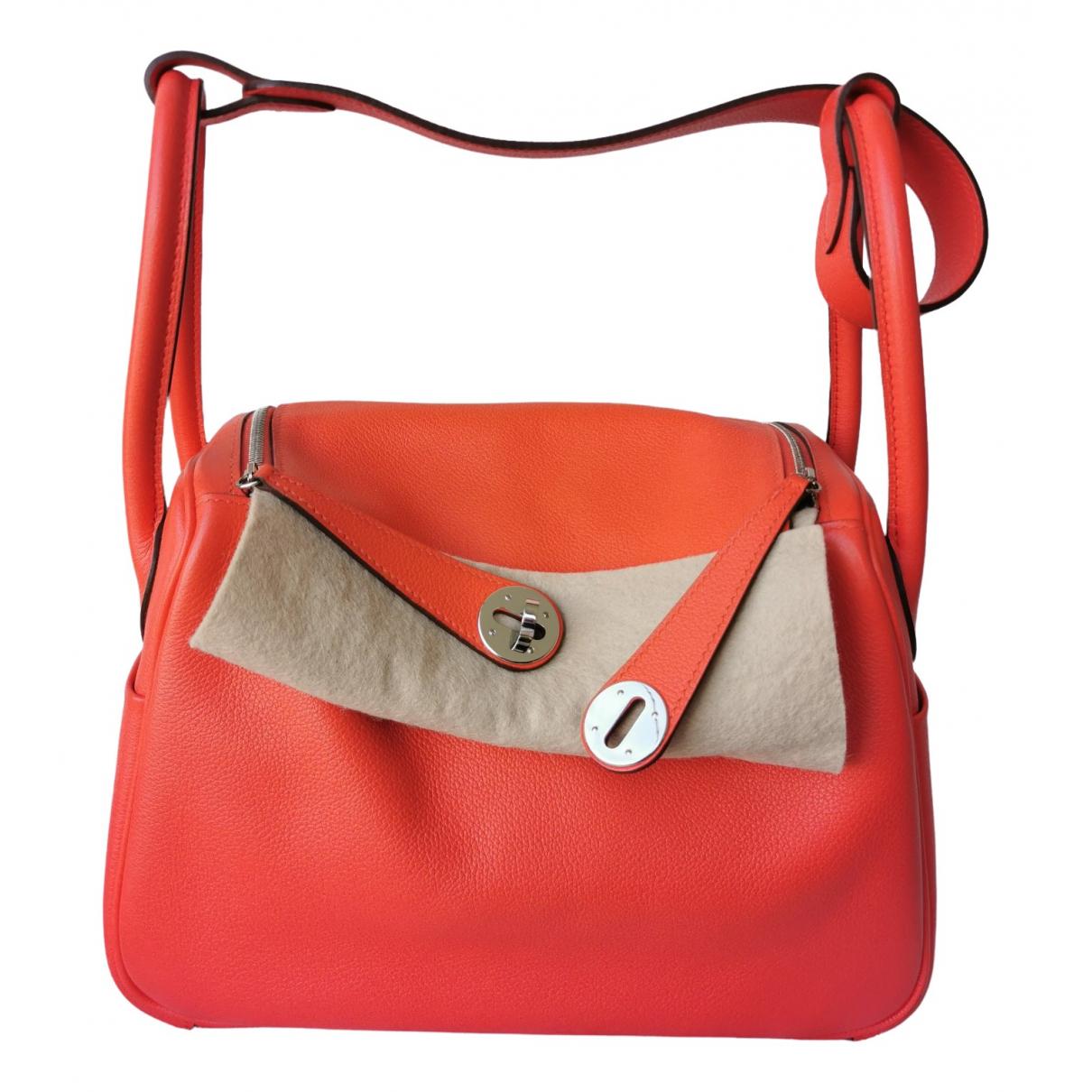 Hermès Lindy Red Leather handbag for Women \N