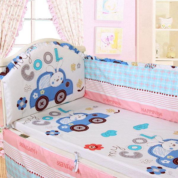 Cool Baby 5-Piece 100% Cotton Crib Bedding Set