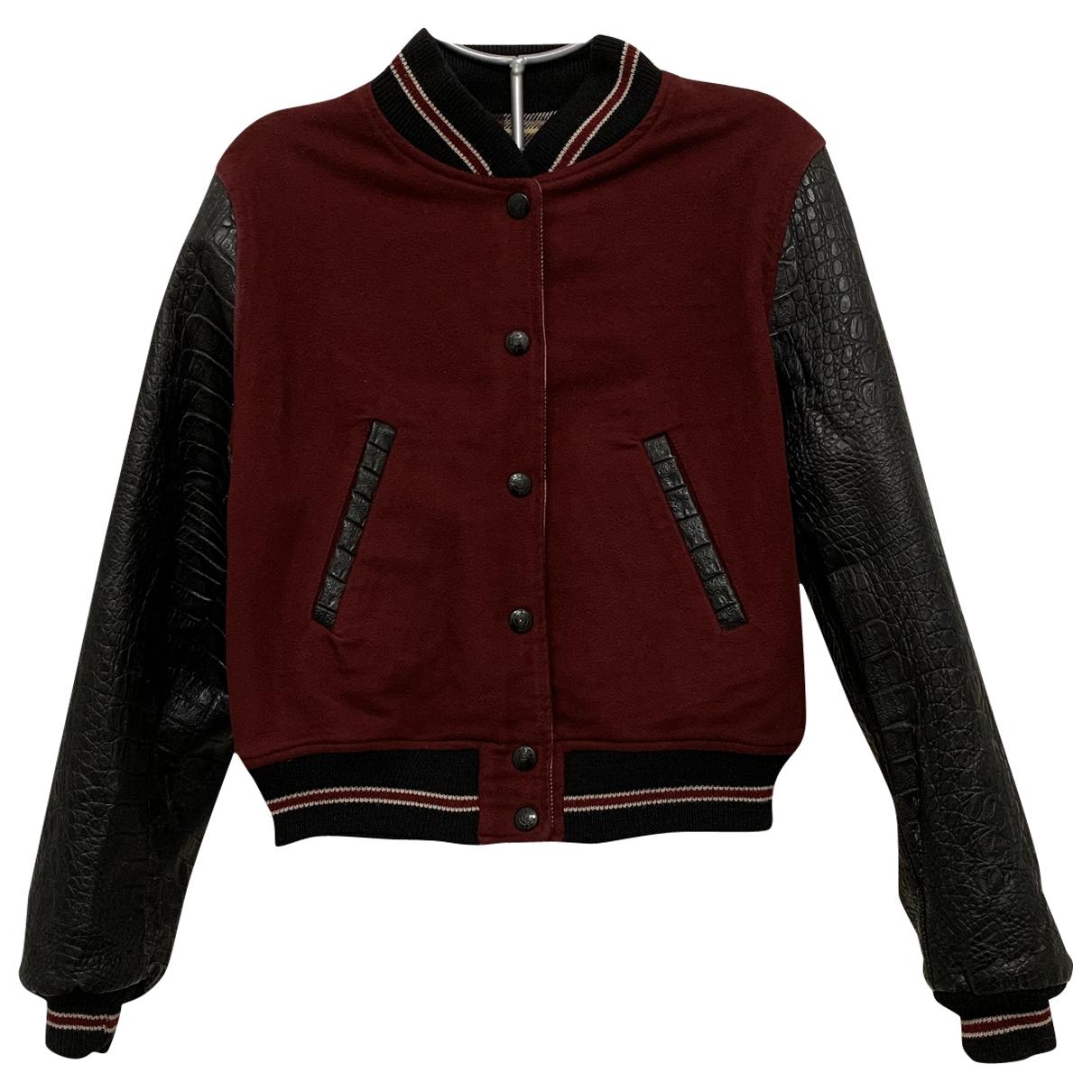 Jean Paul Gaultier \N Burgundy Cotton Leather jacket for Women 44 IT