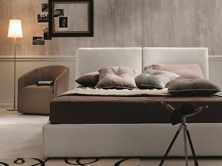18083-Q Queen Size Clay Storage Bed with Hydraulic Lift Component and Water-resistant Upholstery in