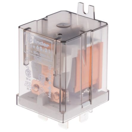 Finder , 110V ac Coil Non-Latching Relay SPNO, 30A Switching Current Flange Mount Single Pole