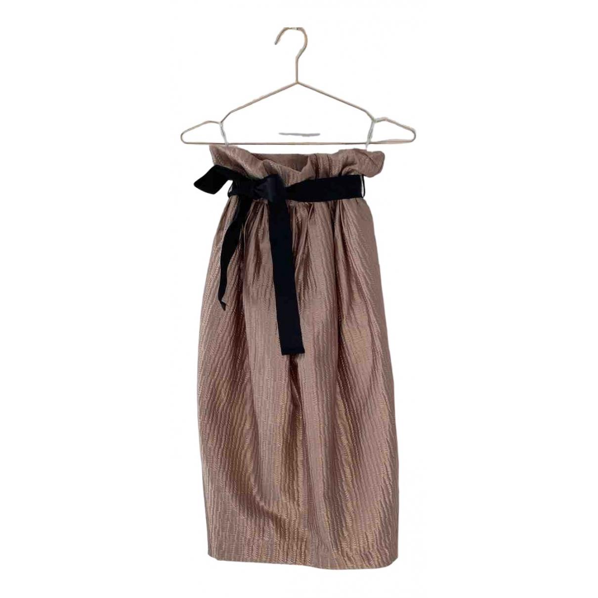 Zimmermann - Jupe   pour femme en soie - dore