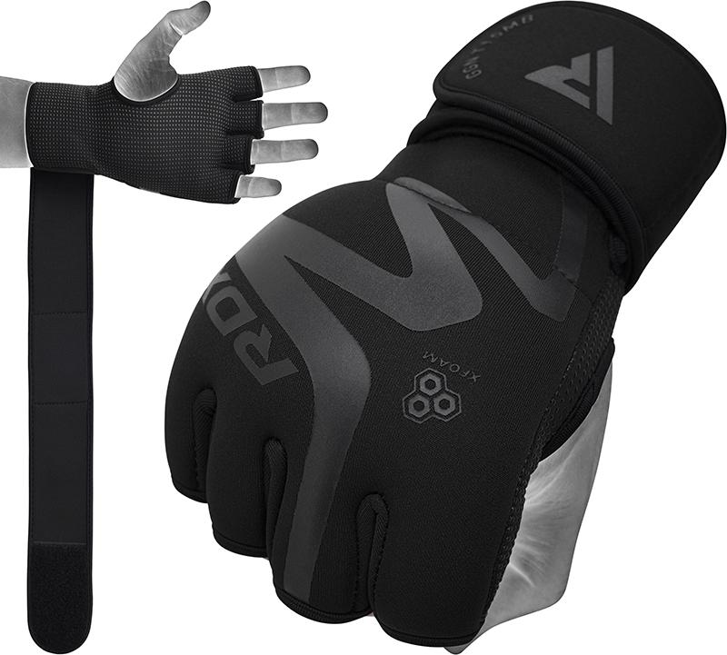 RDX T15 Noir Gel Padded Inner Gloves Hook and Loop Wrist Strap Knuckle Protection