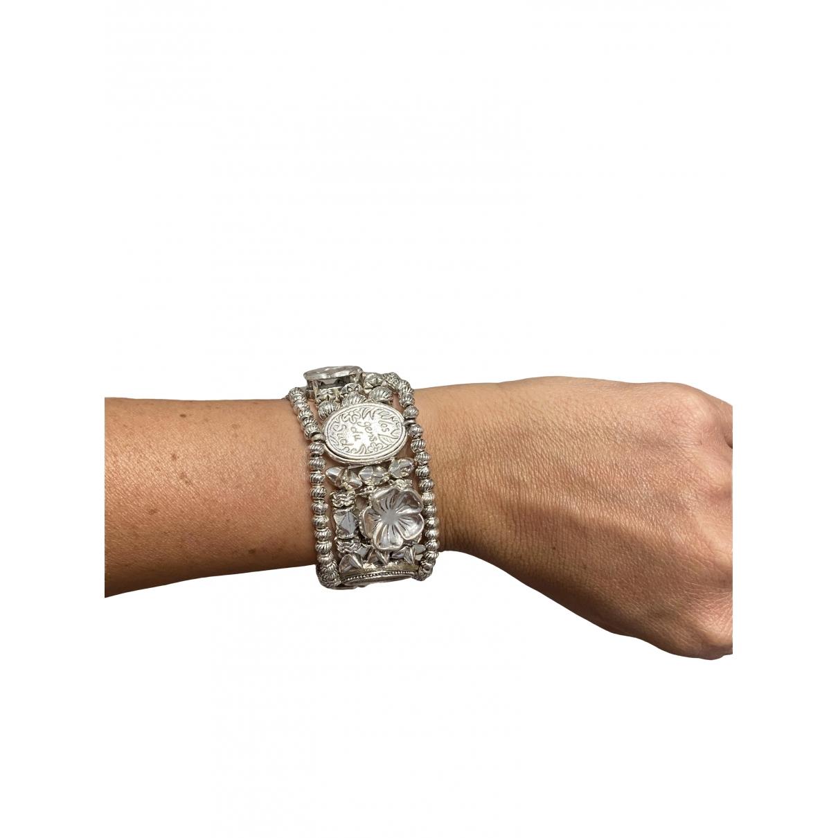 Non Signé / Unsigned \N Silver Steel bracelet for Women \N