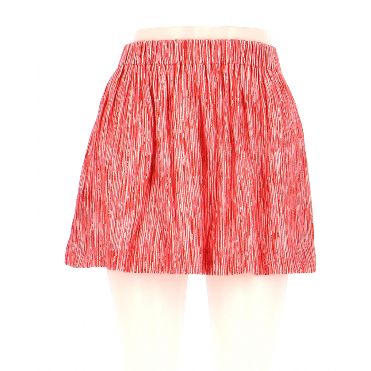 Maje N Pink Cotton skirt for Women 36 FR