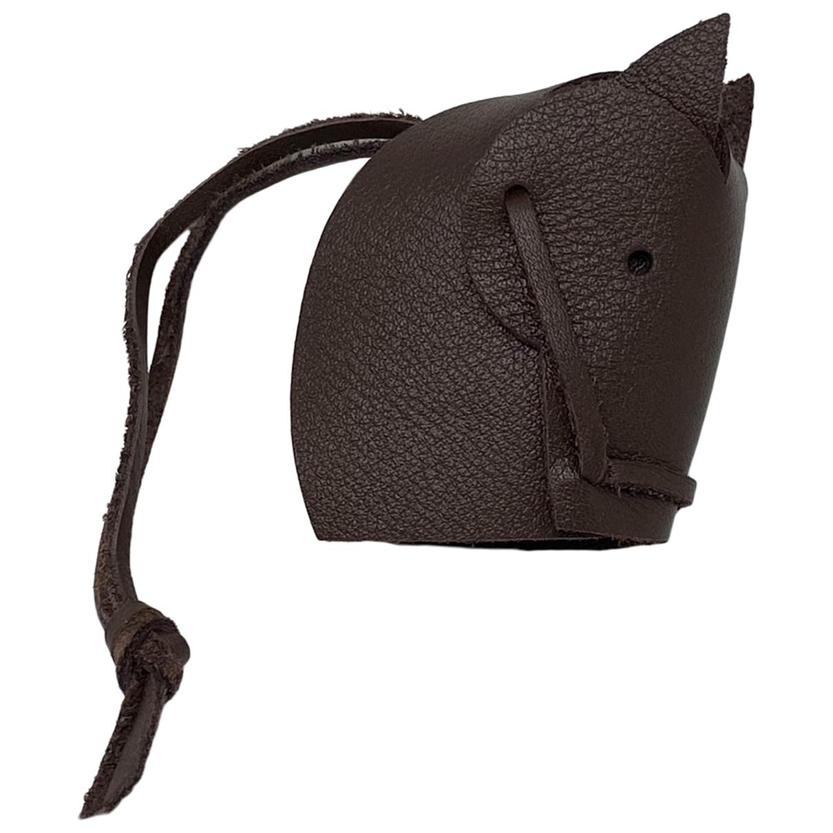 Hermès \N Brown Leather Bag charms for Women \N
