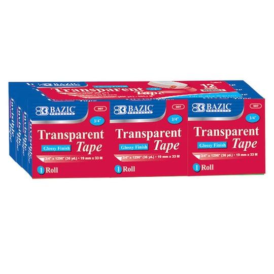 Bazic® Transparent Tape Refill, 12Ct. | Michaels®