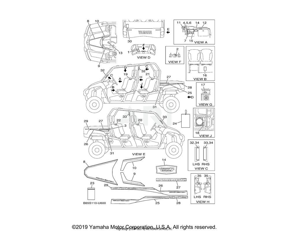 Yamaha OEM 2PG-F151F-00-00 LABEL 3 | ENGLISH