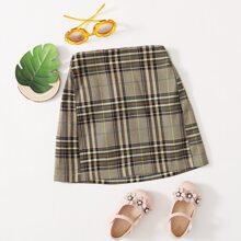 Toddler Girls Plaid A-line Skirt