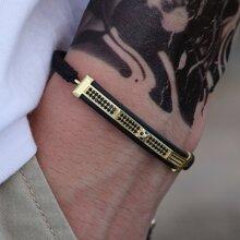Maenner Armband mit Strass Dekor