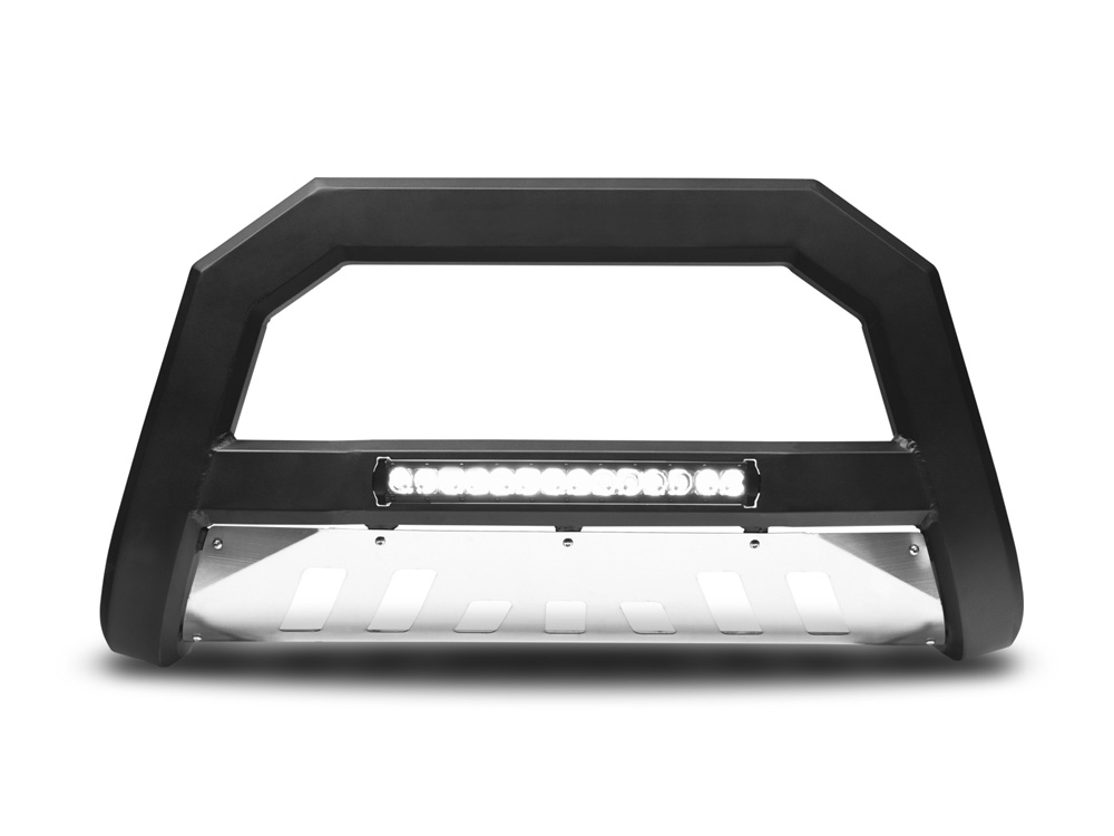 Armordillo 7179592 USA Matte Black w/ Aluminum Skid Plate AR Series Bull Bar w/ LED Honda Ridgeline 2006-2012