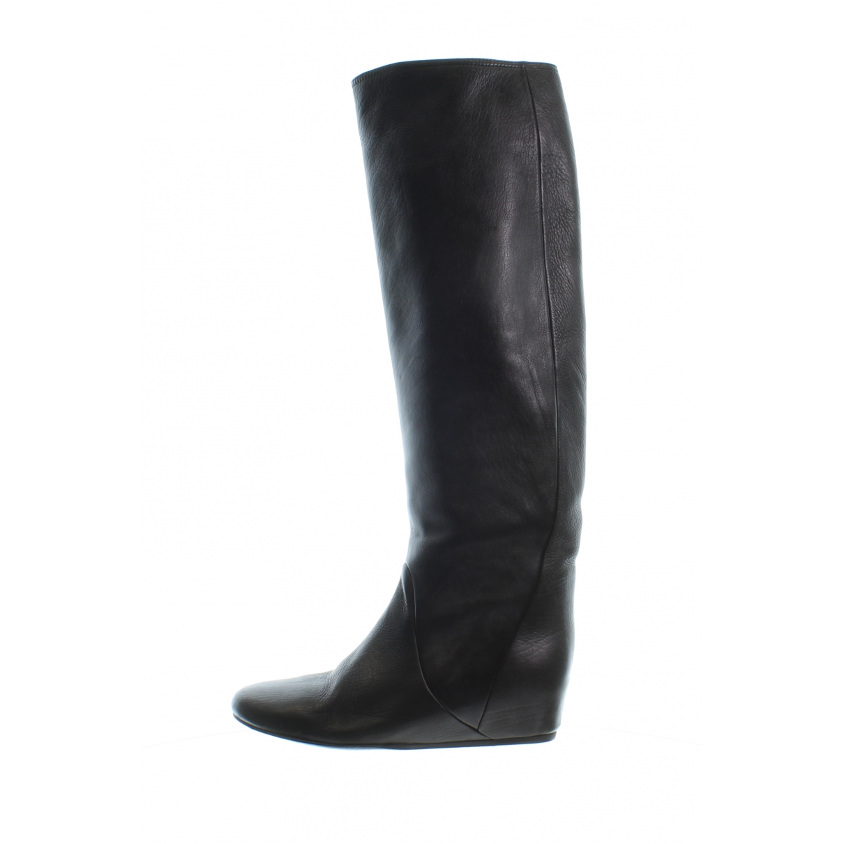 Lanvin \N Black Leather Boots for Women 35 EU