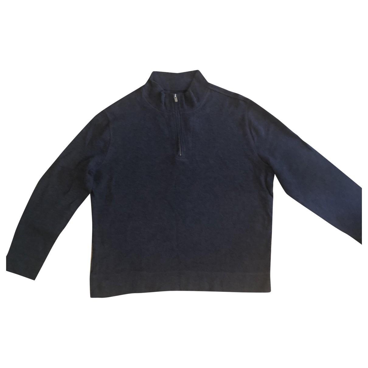 Faconnable \N Pullover.Westen.Sweatshirts  in  Grau Baumwolle