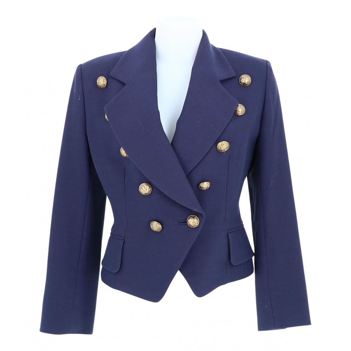 Dior - Veste   pour femme en coton - bleu