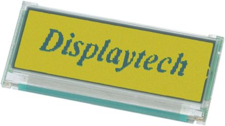 Displaytech 32122A-BC-BC Graphic LCD Display, Yellow on Green, Transmissive