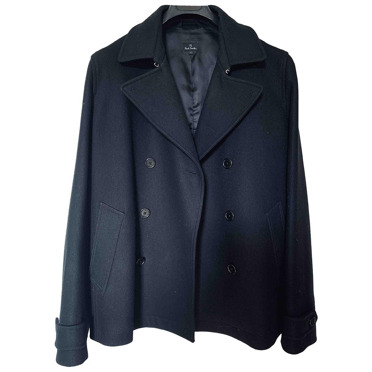 Paul Smith - Manteau   pour homme en laine - noir