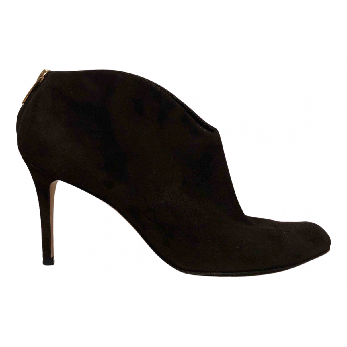 Gianvito Rossi N Brown Suede Ankle boots for Women 41 IT