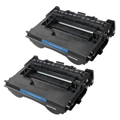 Compatible HP 37A CF237A cartouche de toner noire - boite economique - 2/paquet