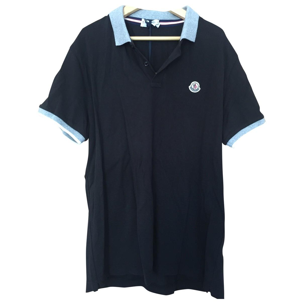 Moncler \N Poloshirts in  Schwarz Baumwolle