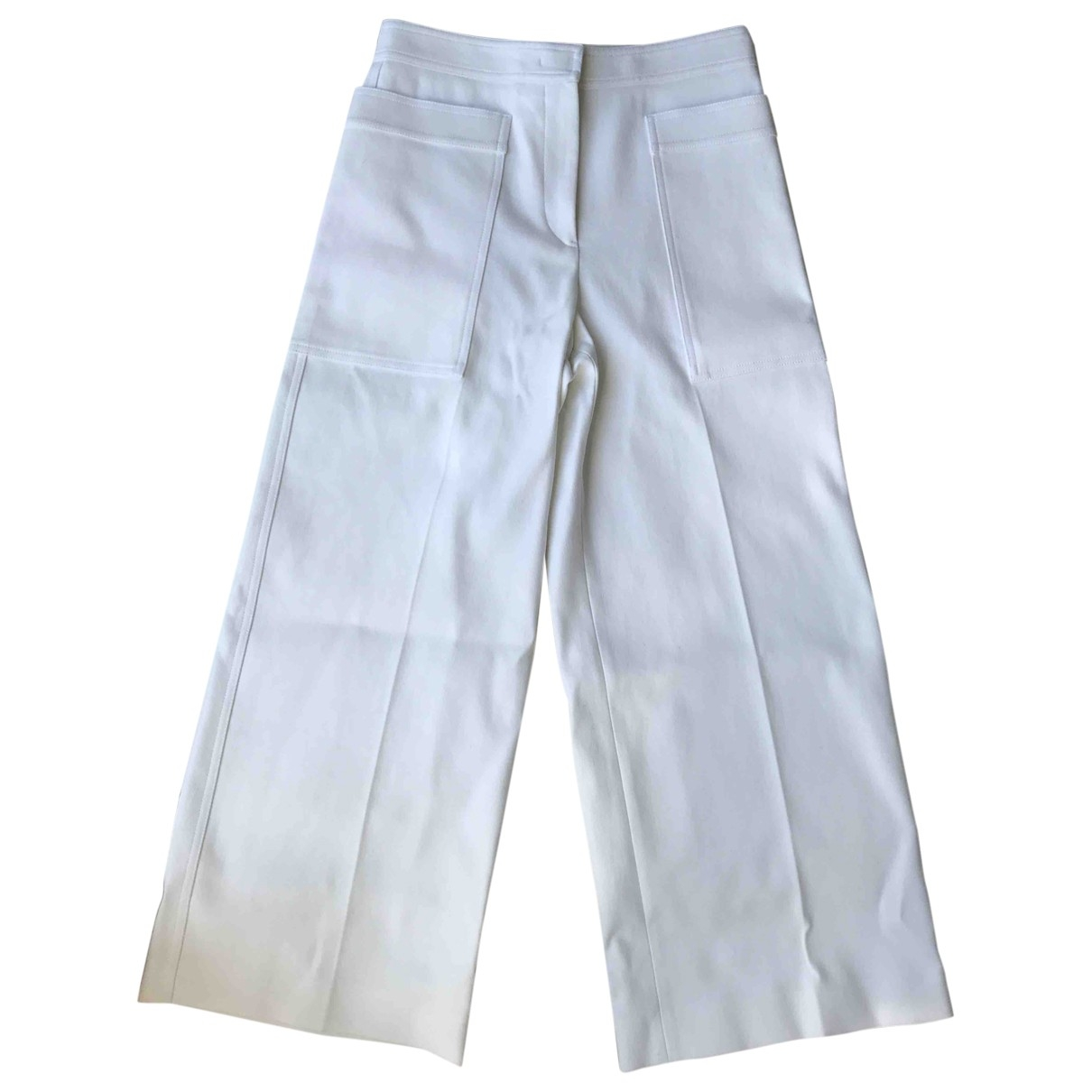 Pantalon en Algodon Blanco Jil Sander