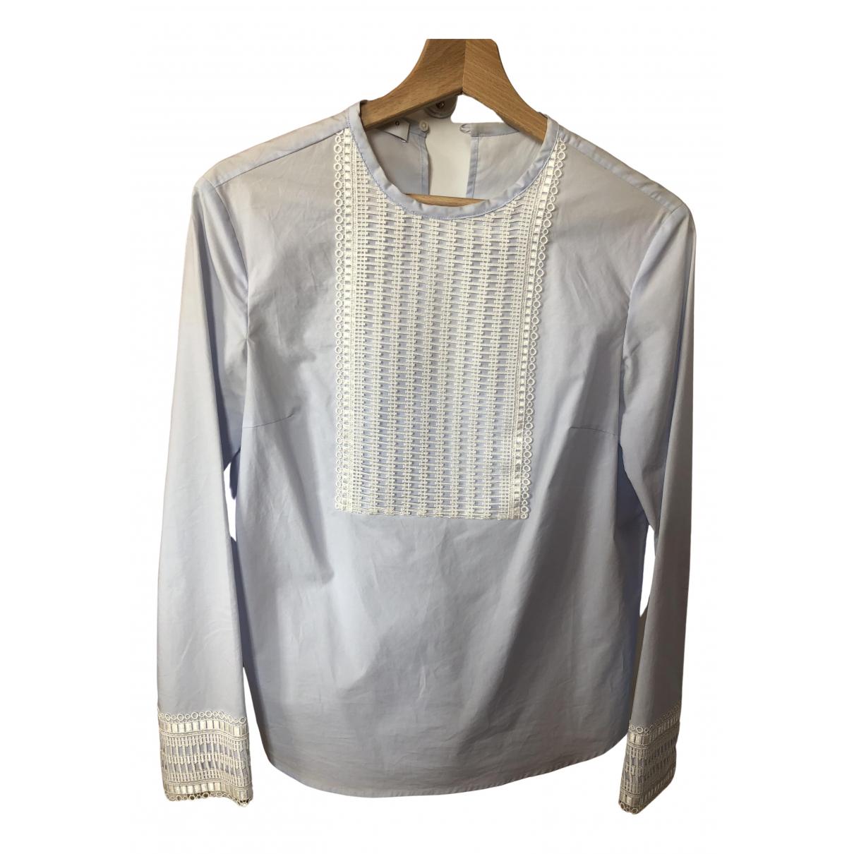 Sandro - Top   pour femme en coton - bleu