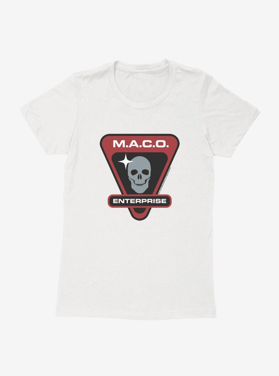 Star Trek M.A.C.O. Enterprise Skull Womens T-Shirt