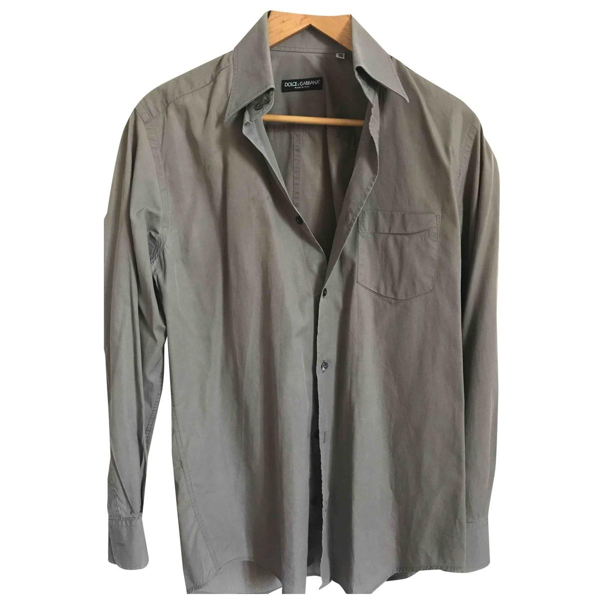 Dolce & Gabbana - Chemises   pour homme en coton - anthracite