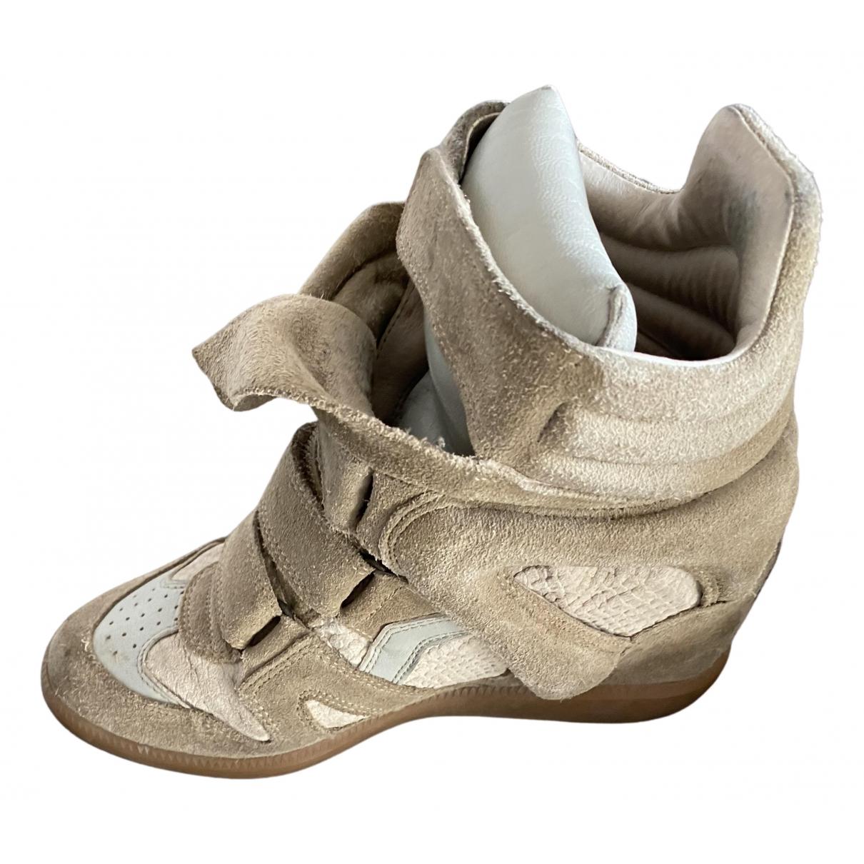 Isabel Marant - Baskets Beckett pour femme en toile - beige