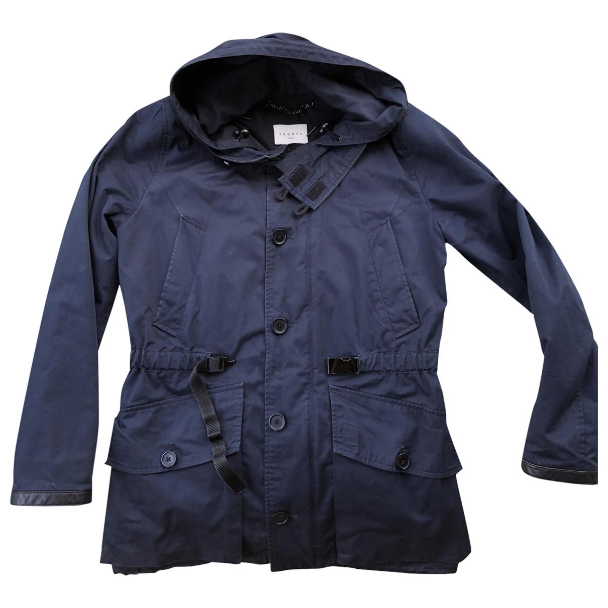Sandro - Manteau   pour homme - bleu