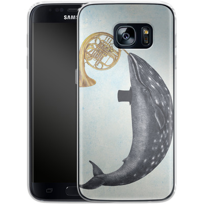 Samsung Galaxy S7 Silikon Handyhuelle - Whale Song von Terry Fan