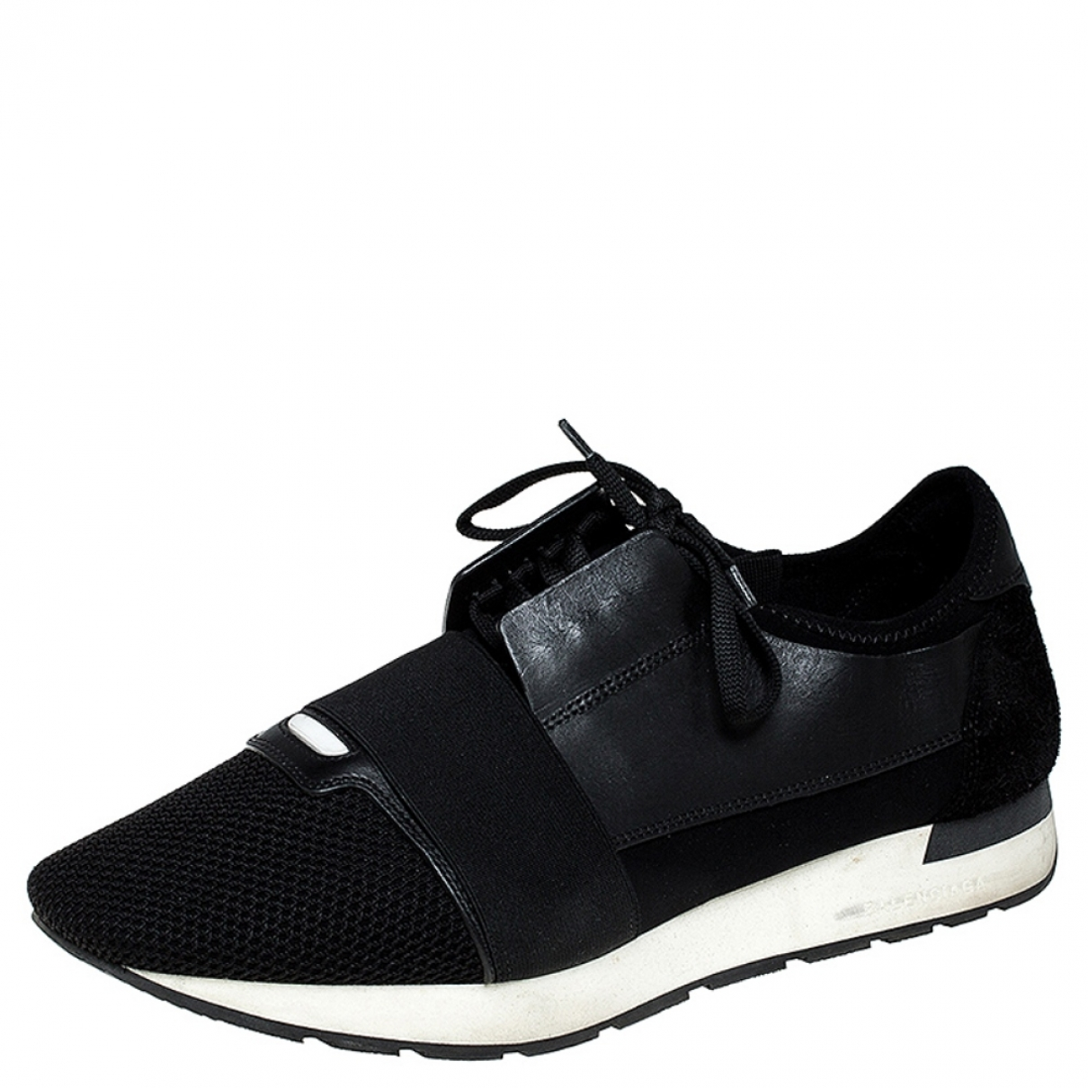 Balenciaga \N Black Leather Trainers for Men 13 US