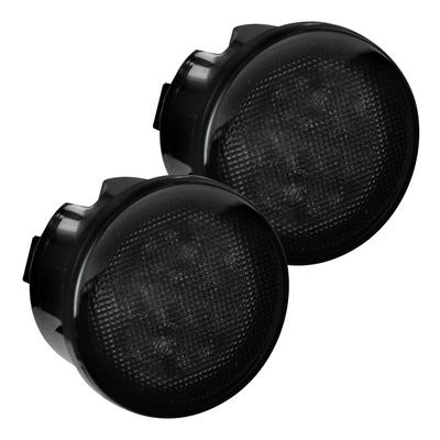 Recon Turn Signal Fender Lights (Smoked) - 264134WHBK