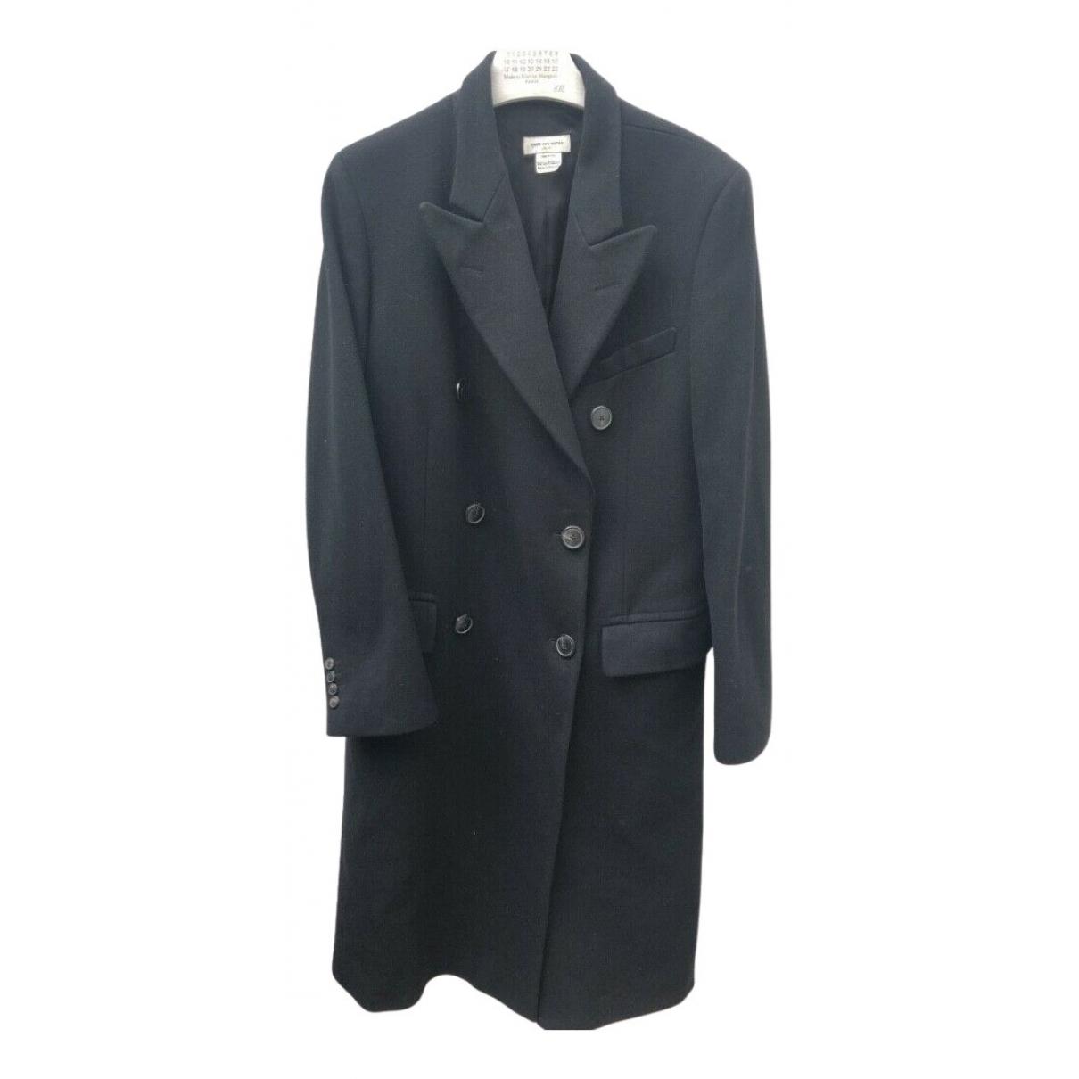 Dries Van Noten - Manteau   pour homme en laine - noir