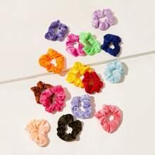 15 Stueck Solid Scrunchie