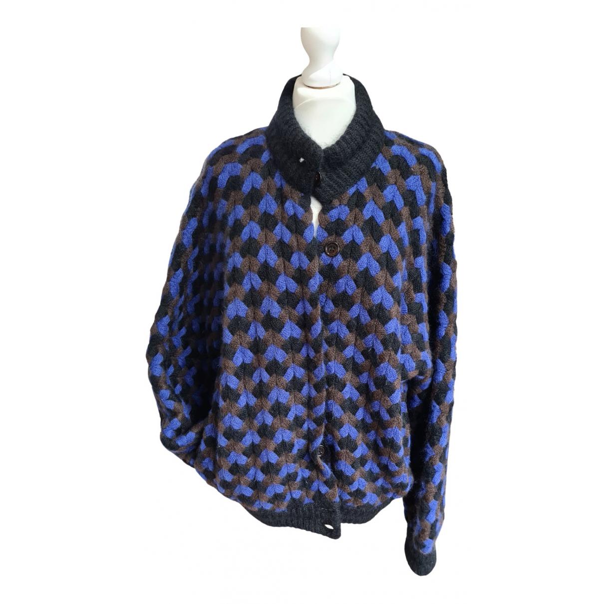 Salvatore Ferragamo \N Pullover in  Blau Wolle