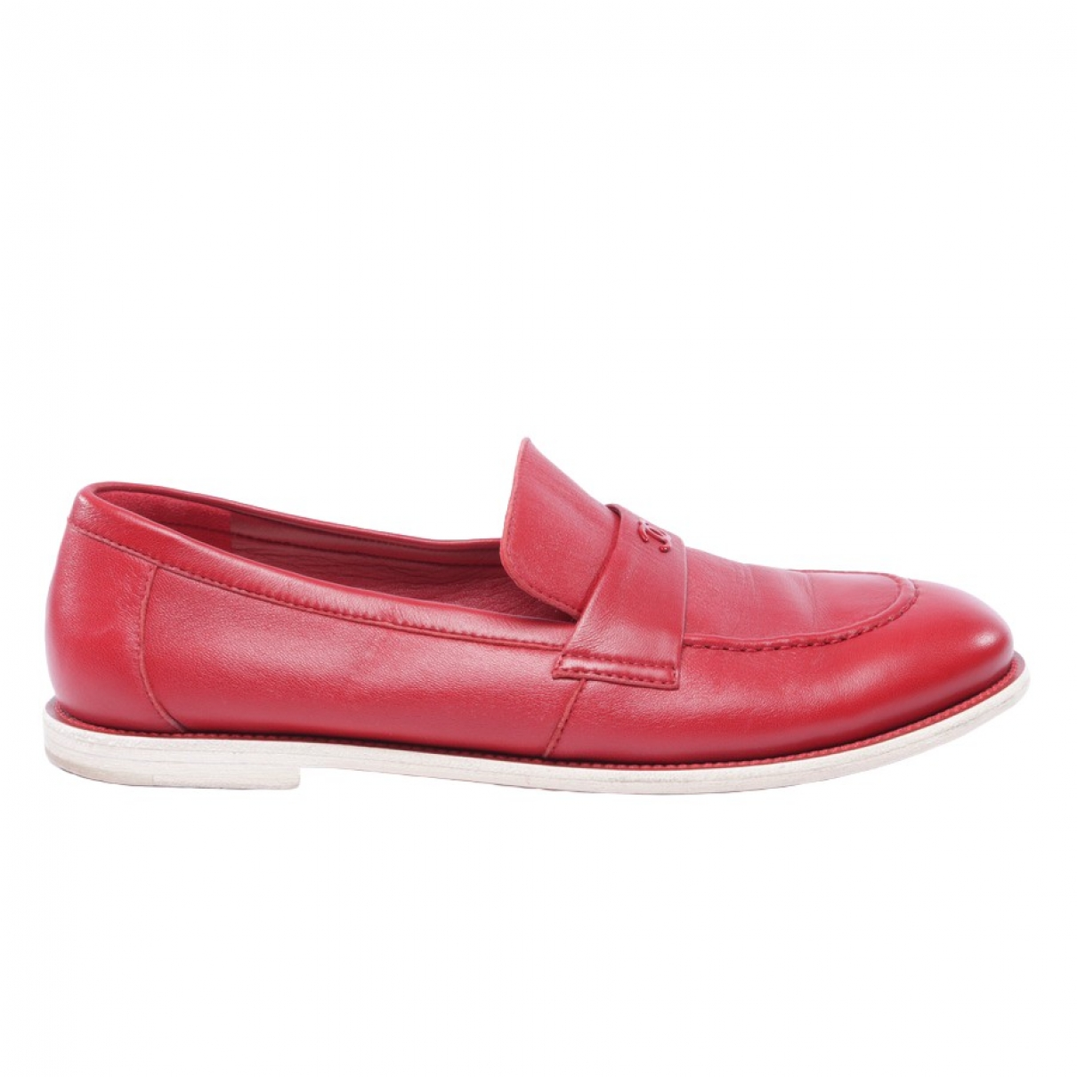 Chanel \N Red Leather Trainers for Women 41.5 EU